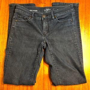 Ann Taylor LOFT modern straight leg jeans